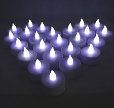 Qty 36 Battery Operated, Flicker White Led Tealights Tea Lights Flameless