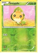 POKEMON BLACK AND WHITE LEGENDARY TREASURES - SEWADDLE 10/113 REV HOLO