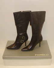 FIORELLI WOMENS POINTY WINTER BOOTS SIZE 9 LEATHER LADIES JAYE CHOC rrp $299.95