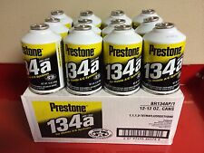 R134a Prestone Brand 12 - 12oz Cans USA Made USA Packaged Refrigerant HFC-134a