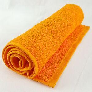 A Premium Quality Gym/Sweat 100% Cotton 500gsm Towel, 30x110cm, Orange Colour