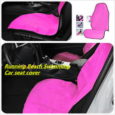 1Pc Pink Towel Car Seat Cover Athletes Fitness Gym Running Beach Swimming CYAN
