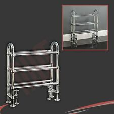 "770mm(w) x 680mm(h) ""Barkley"" Chrome Traditional Heated Towel Rail Radiator"