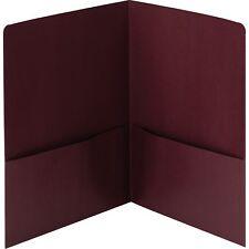 "Smead Lin 2-Pocket Folders 9-3/4""x11-1/2"" 25/Bx Maroon 87947"
