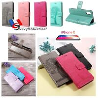 Etui Folio coque housse Nature Wallet Leather case cover skin pour iPhone 5s, SE