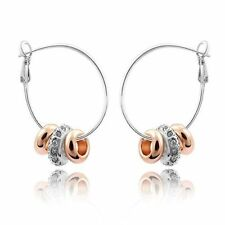 Handmade Crystal Hoop Fashion Earrings