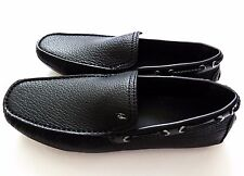 $895 BRIONI Black Leather Shoes Loafers Moccasins Size 10 US 43 Euro 9 UK