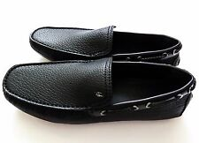 $895 BRIONI Black Leather Shoes Loafers Moccasins Size 11 US 44 Euro 10 UK