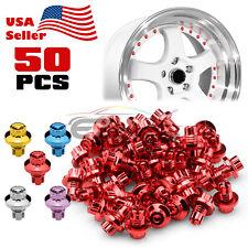 50pcs Flat Wheel Rivets For Wheels Rims Jdm Lip Pc Wrl02