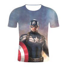 Popular Women Men T-Shirt 3D Print Film Avengers Captain Short Sleeve Summer Tee