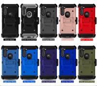 For Motorola Moto G Stylus Case,Premium Belt Clip Cover+Tempered Glass Protector