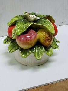 Vintage Sorrento Arnart Fruit Basket Ceramic 33/156  Made in Japan (S44/KO40)