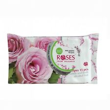 Wet Wipes Natural Rose Oil Alcohol Make up Remover Face Body Hand Cleanser 14 Pcs - 210 Wipes