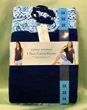 Size 3x 4 PC Pajama Shorts-capri-tank-shirt Set Carole Hochman Purple