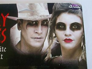 Halloween Scary Tales Ghostly White Makeup Kit Zombie Dead Costume Theater