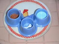 Fisher Price Loving Family Dollhouse Pet Bowl Feeding Dish Water Food Dog Bone