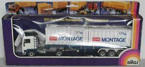 """Siku 3111 Volvo F10 Container Sattelzug """"G+H MONTAGE"""" unbespielt mit Ovp. Mint"""