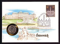 1983 Austria Austrian stamp and coin cover 100 Jahre Weiner Rathaus postmark