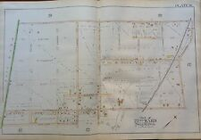 ORIG 1889 G.W. BROMLEY MT. AIRY ALLENS LANE STATION PHILADELPHIA PA ATLAS MAP