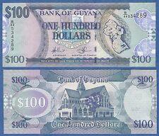Guyana 100 Dollars P 36 b (ND 2011) UNC  Low Shipping! Combine FREE! P-36b