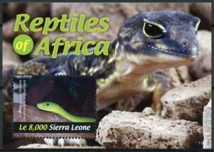 Sierra Leone 2011 MNH Reptiles of Africa 1v S/S II Snakes Eastern Green Mamba