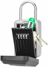 Key Lock Box 4 Digit Combination Key Safe With Large Capacity Wall Mounted Key