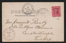 1907 Picture Postcard PPC Mt. Hood Silverton OR to Constantinople Turkey