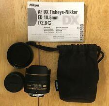 Nikon AF DX Fisheye-Nikkor Lens 10.5mm 1:2.8 G ED (Made in Japan) w/ Soft Case
