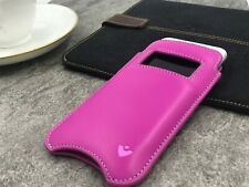 iPhone 11 | iPhone XR Case PINK Leather NueVue SANITIZING Screen Clean Sleeve
