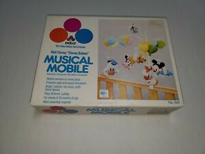 1984 Vintage Dolly Disney Babies Musical Mobile #641 In Box Mickey Mouse Friends