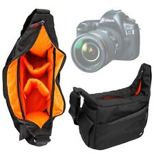 Black & Orange Durable Shoulder Sling Bag for Canon EOS 5D Mark IV Camera