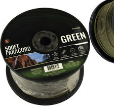 GREEN 550 Paracord 500 ft. 7 Strand  Cord Outdoor Survival Camping Rope