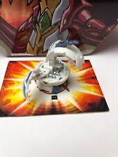 Bakugan Naga Dragonoid White B2 650G + BONUS 1 Gate Card & 1 Ability card