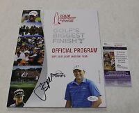 Jordan Spieth Signed Tour Championship Official Program Magazine  JSA COA