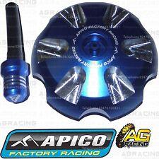 Apico Blue Alloy Fuel Cap Vent Pipe For Husqvarna FC 350 2015 Motocross Enduro