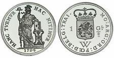 Zilveren Proof replica -  1/4 Gulden 1794 West-Indie  .925 zilver, 31,1 gram