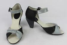 Sandales IKKS Original shoes Cuir Noir et Gris T 38 TBE