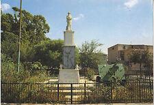 CARTOLINA SAN SPERATE - CAGLIARI - MONUMENTO AI CADUTI - NON VGT ANNI 80 - #30