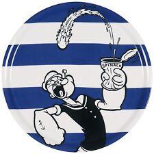 Popeye piatto pizza ceramica decorata diametro 31 cm EX-62345 bianco nero blu