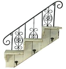 Mensola SPECIALE SCALA 3 GANCI vintage shabby chic - scaffale - BIANCO USED LOOK