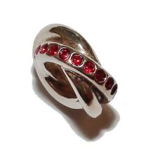 """Pre-Owned Genuine CHAMILIA Silver & Red Gem Set """"Regale"""" Bead - #2"""