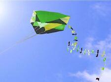 Singola linea Parafoil Pocket Kite + colorata lunga coda in sacchetto facile Outdoor Fun