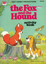 Fox and the Hound coloring book RARE UNUSED