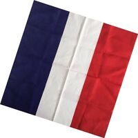 Square Cotton Scarf Headwrap France Flag Printed Hip hop bandana Scarf Bandanas