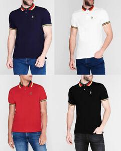 Luke Men Short Sleeve Cotton Pique Jersey Polo Shirt top T shirt S M L XL 2XL