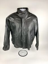 Global Identity G-III Pelle Cuir Mens Leather Bomber Style Jacket Size M