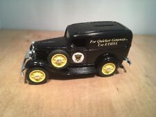 ETHYK 1932 FORD DELIVERY VAN DIE CAST COIN BANK by ERTL  #9898 1:25 SCALE