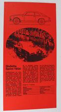ALFA ROMEO GIULIETTA SPRINT 1954 D EPOCA ORIGINALE PROSPEKT 5.1 1848 dl19