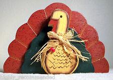 Colorful Wood 3D Turkey Thanksgiving Decorative Bird