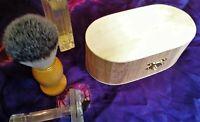 Sandalwood and Myrrh Shaving Soap In Wooden Box - 230 grams